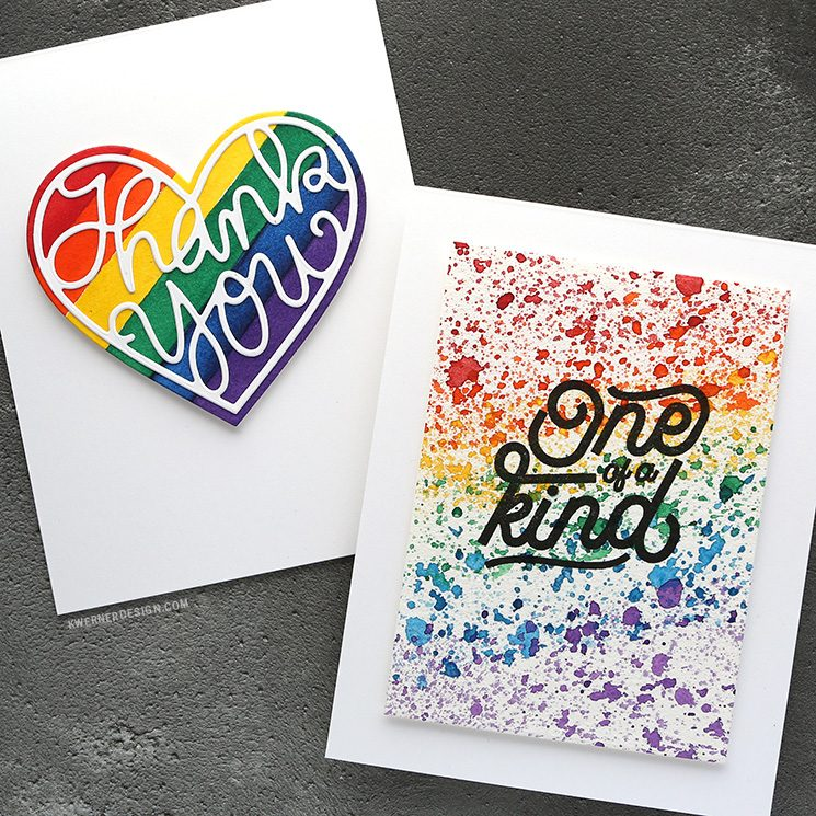 EASY Watercolor Rainbow Backgrounds - Make a Card Monday #279