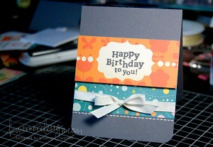 Make a Card Monday - Happy Birthday
