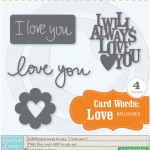 Card Words: Love Brushes