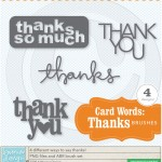Card Words: Thanks Brushes