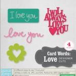 Card Words: Love Designer Cuts