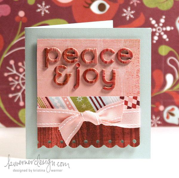 Day 22 – Holiday Card Series – Peace & Joy