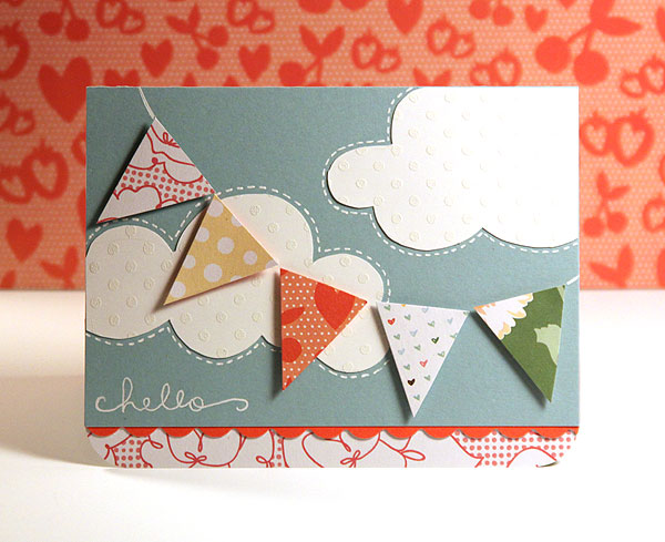 Finally Friday - Hello (Paper Pieced Pennant)