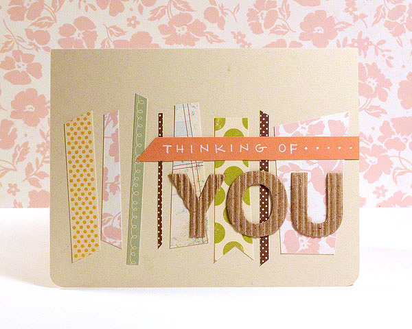 Finally Friday - Card made from patterned paper scraps