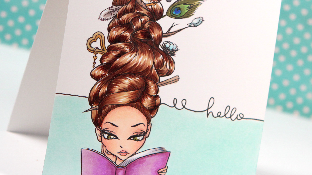Coloring Hair with Copics – Color Wednesday #44 (TEW Lucy Loo Bookaholic)