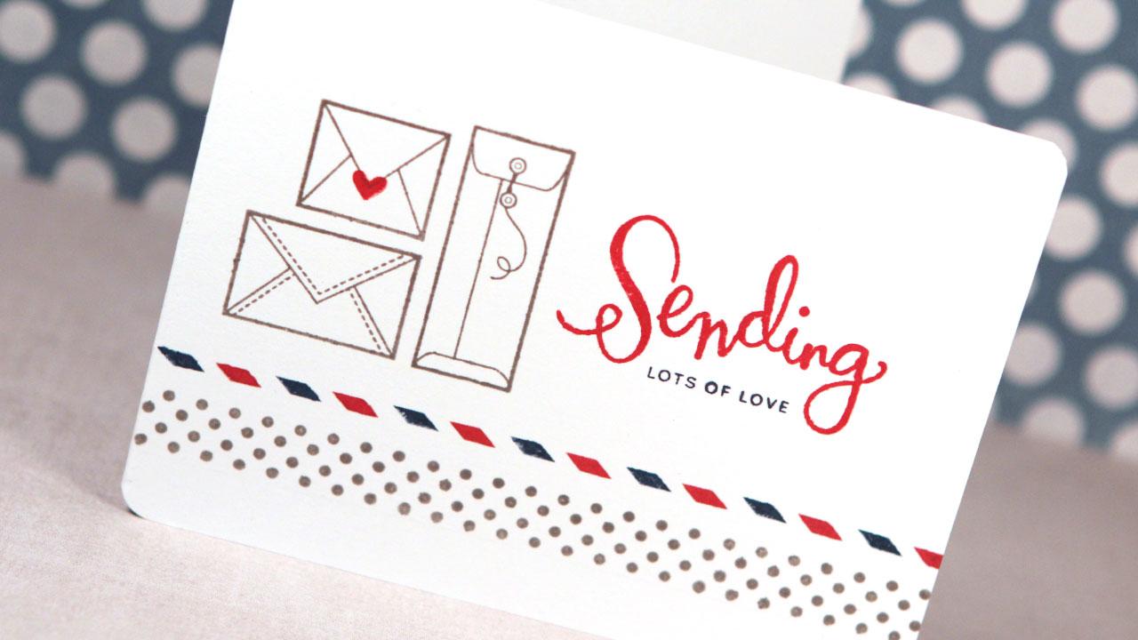 Sending Lots of Love (Simon Says Stamp July 2014 Card Kit)