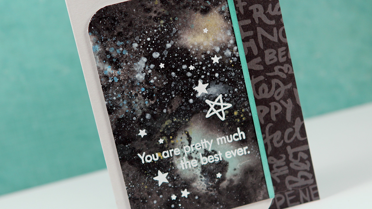 Easy Galaxy with Distress Paints – Make a Card Monday #256