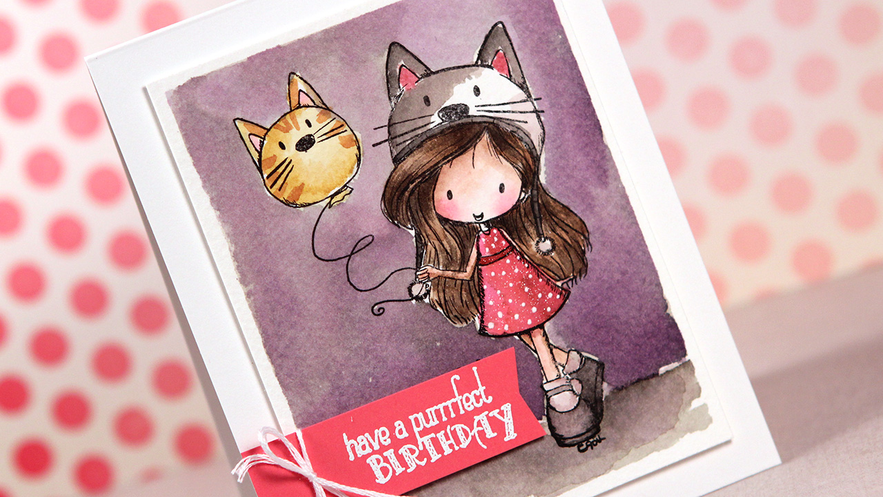 Distress Markers & Tiddly Inks Purfect Birthday For Wryn – Color Wednesday #48