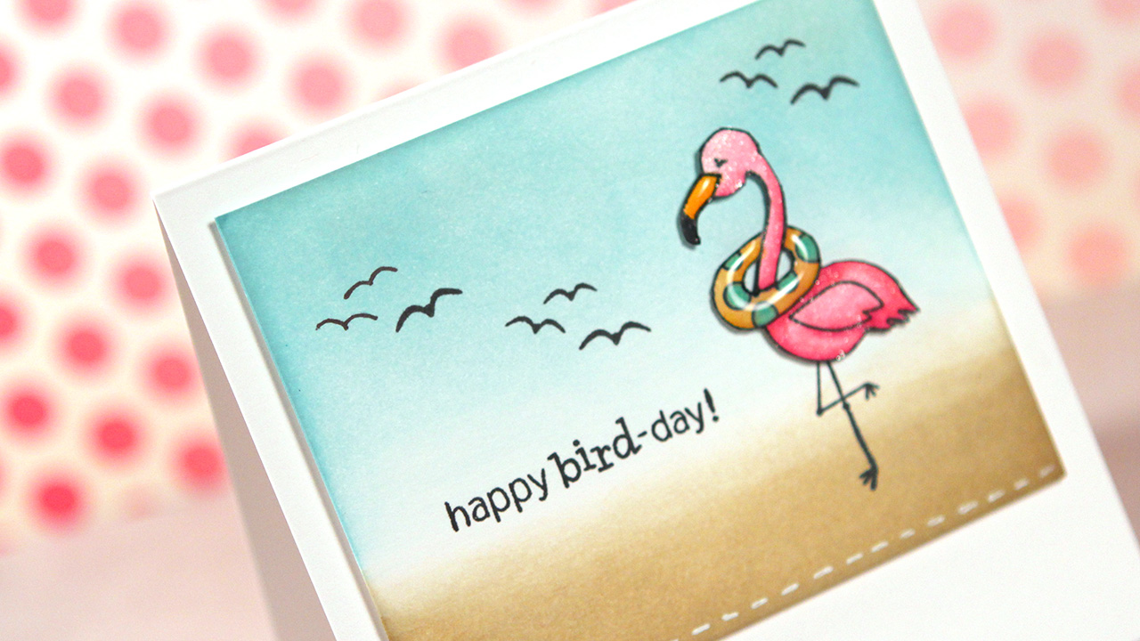 Copic Markers & Newton's Nook Flirty Flamingos – Color Wednesday #50