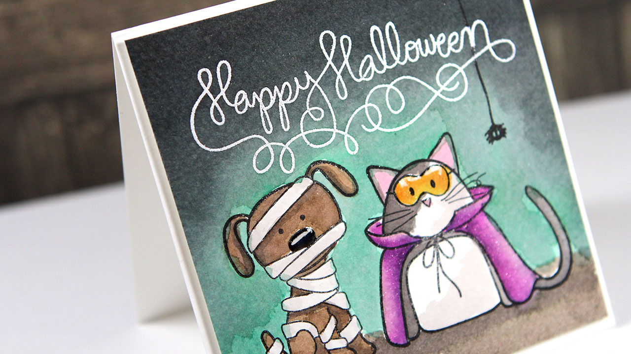 Halloween Watercoloring & Stamptember Blog Hop!
