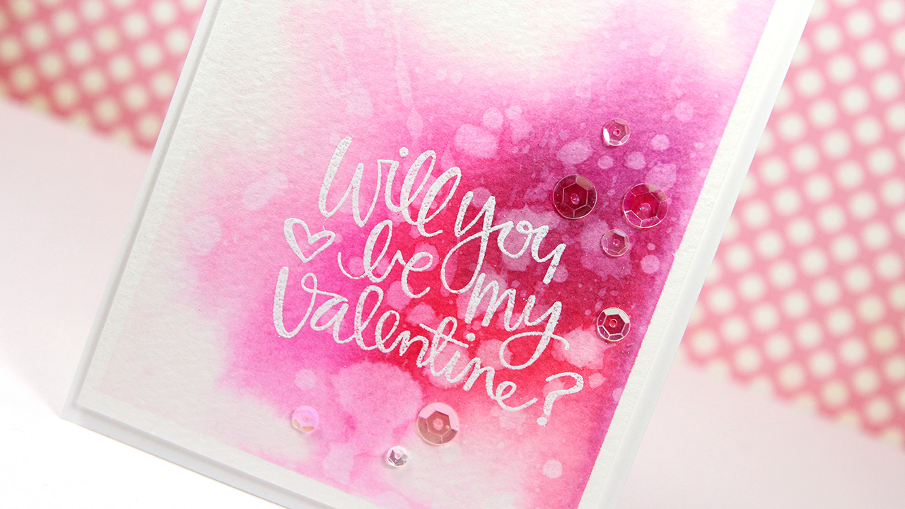 Watercolor Valentine's Day Card – Make a Card Monday #267 + 2 GIVEAWAYS!