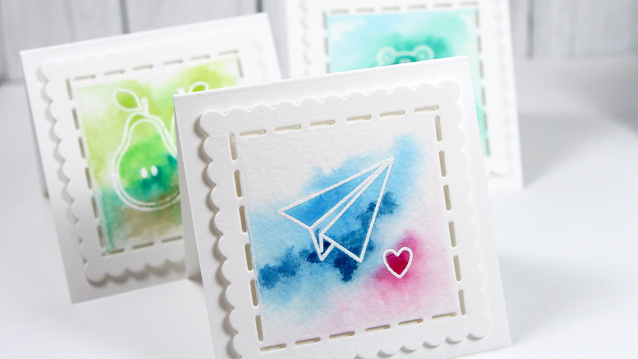 Easy Watercolor Valentine's Day Cards – Color Wednesday #59 (Simon Says Stamp Better Together Blog Hop)