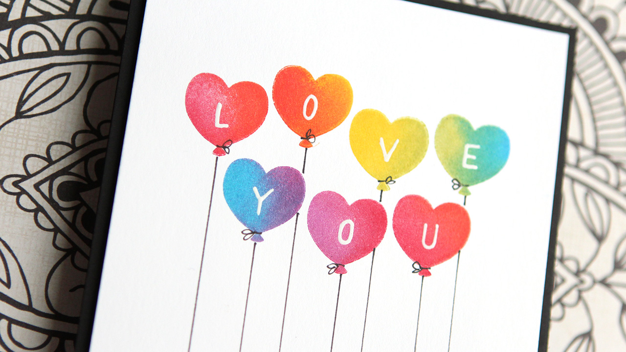 Rainbow Stamping with Pigment Inks – Make a Card Monday #273