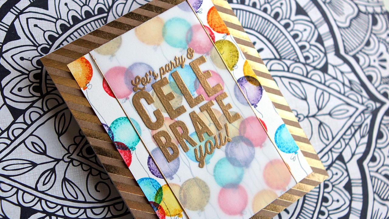 Stamped Distress Ink Background Birthday Card & Blog Hop