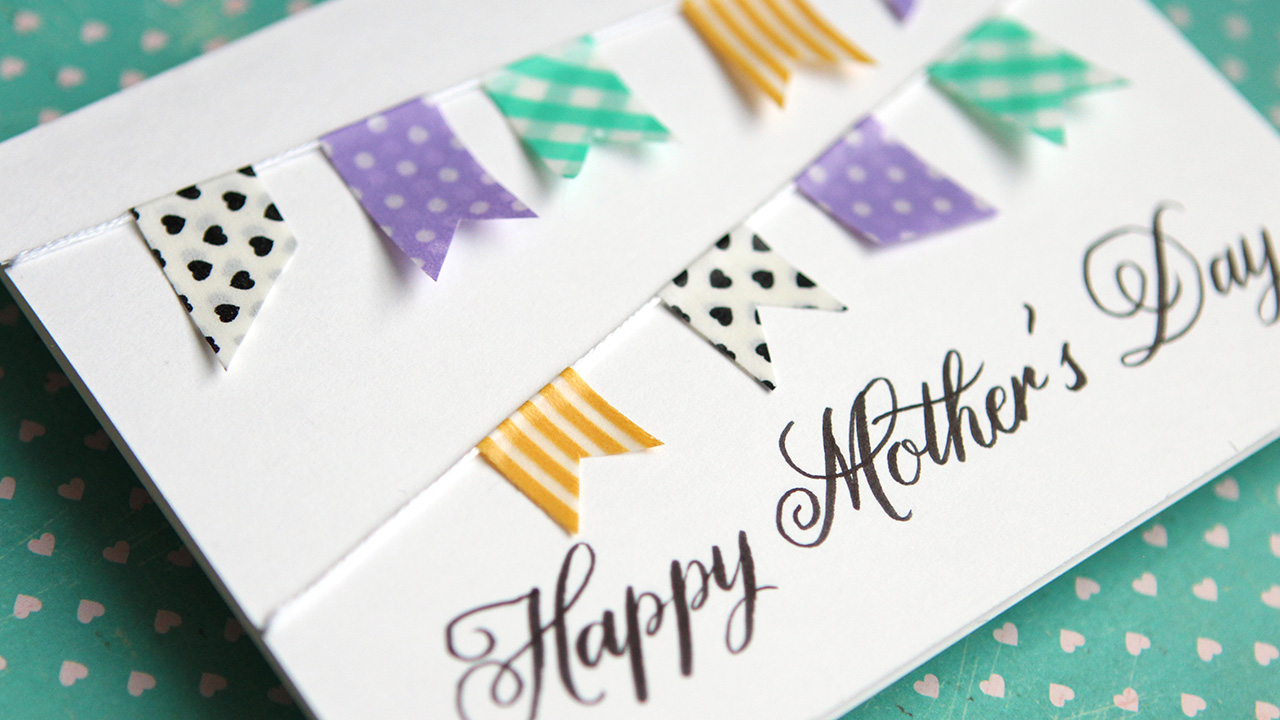 Simple DIY Mother's Day Card – No stamping!