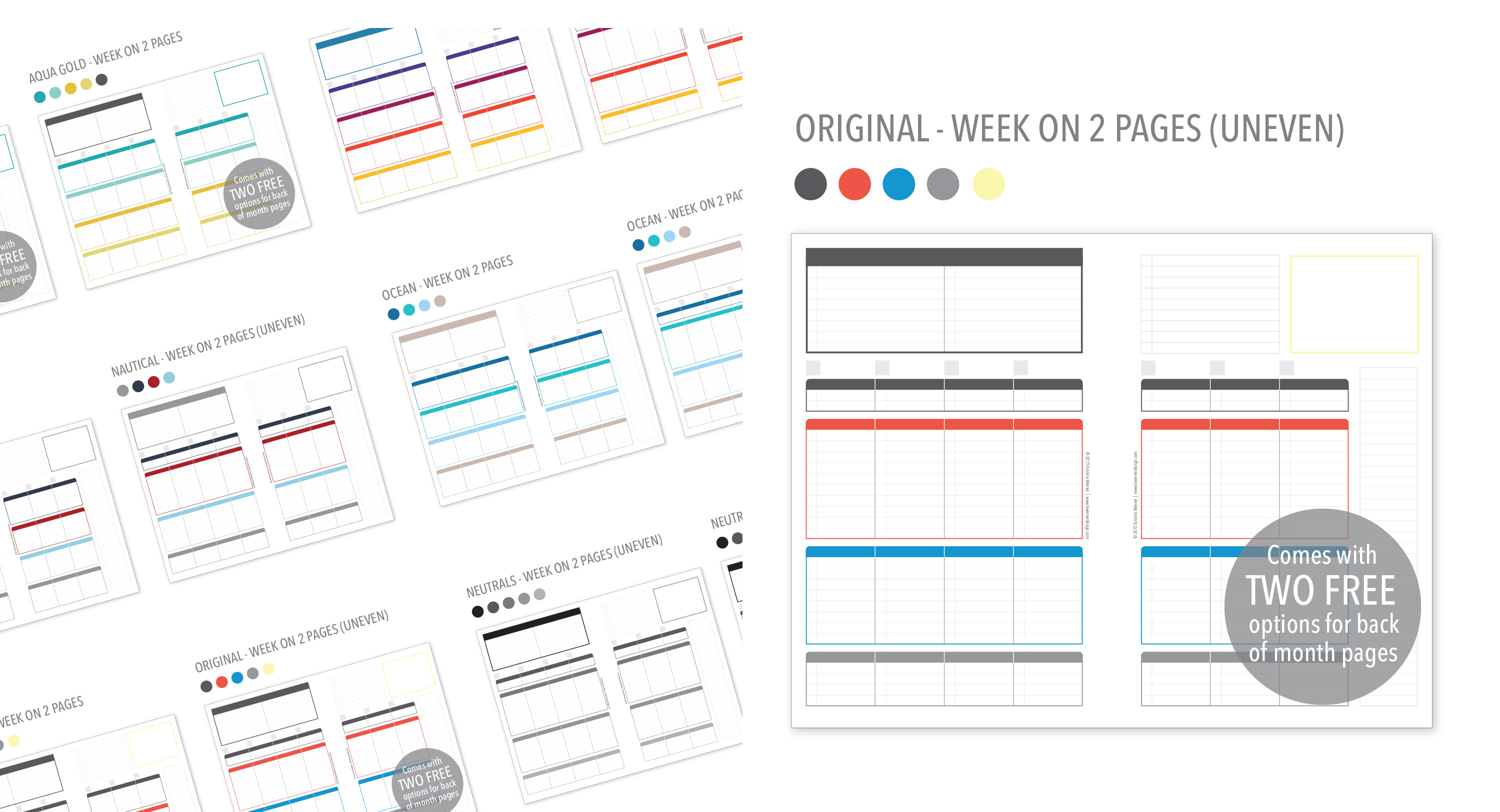 PlanThis Planner Inserts – NEW options & Layouts