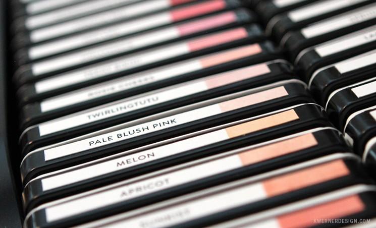 Craft Room Organization - Ink Pad Labels