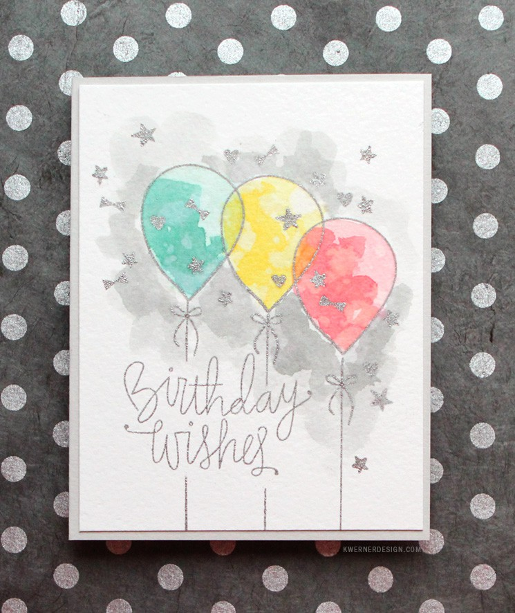 Distress Ink Watercolor Birthday Card