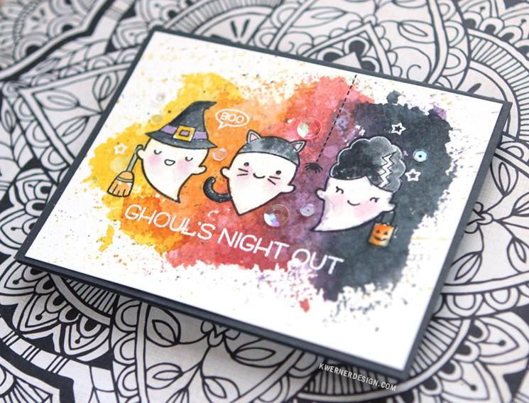 Ink Smooshing Halloween Card (feat. Lawn Fawn)