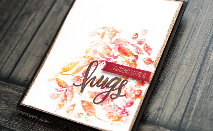 Autumn Leaves with Water Soluble Oil Pastels (Stamptember Blog Hop) + GIVEAWAY!