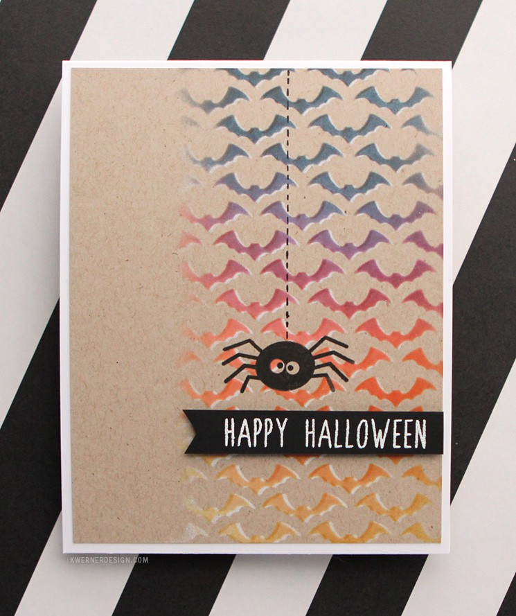 Stenciled Halloween Card