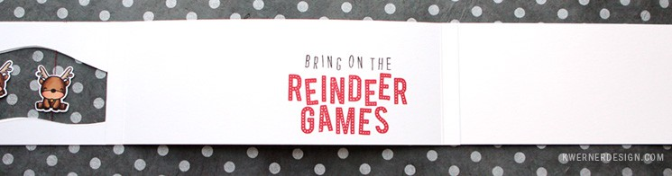 Reindeer Spinner Card (feat. Mama Elephant stamps)