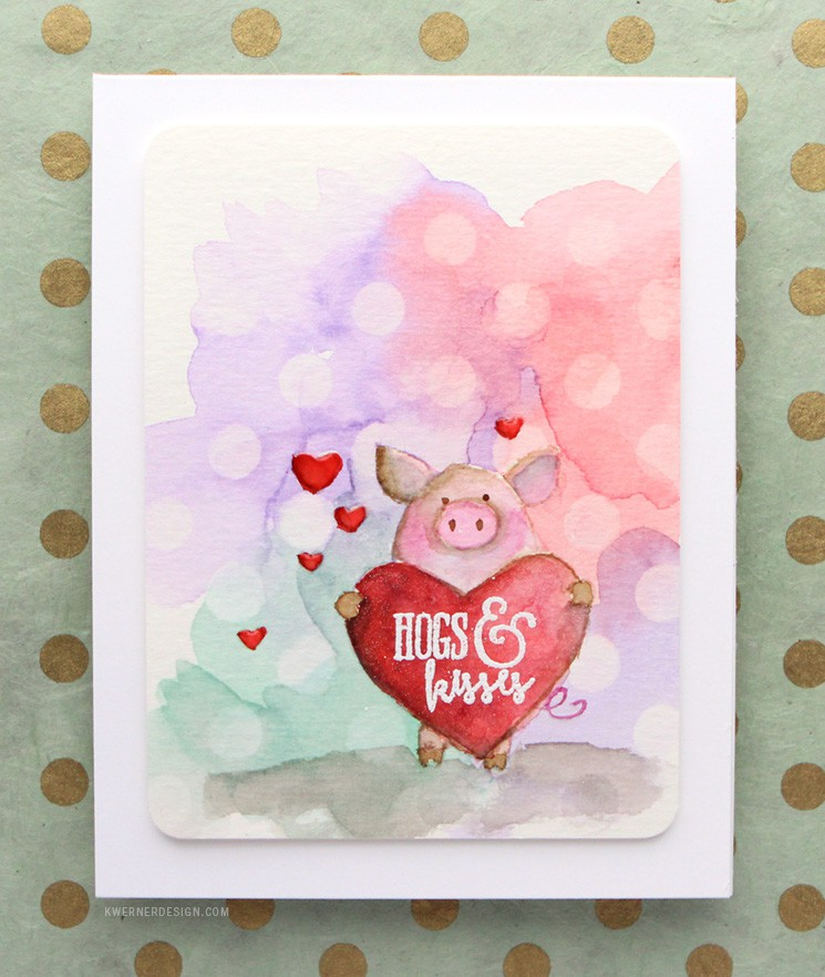Valentine's Day Card - Hogs & Kisses