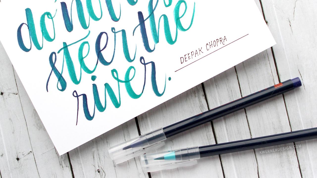 Brush Lettering with Akashiya Sai Watercolor Pens
