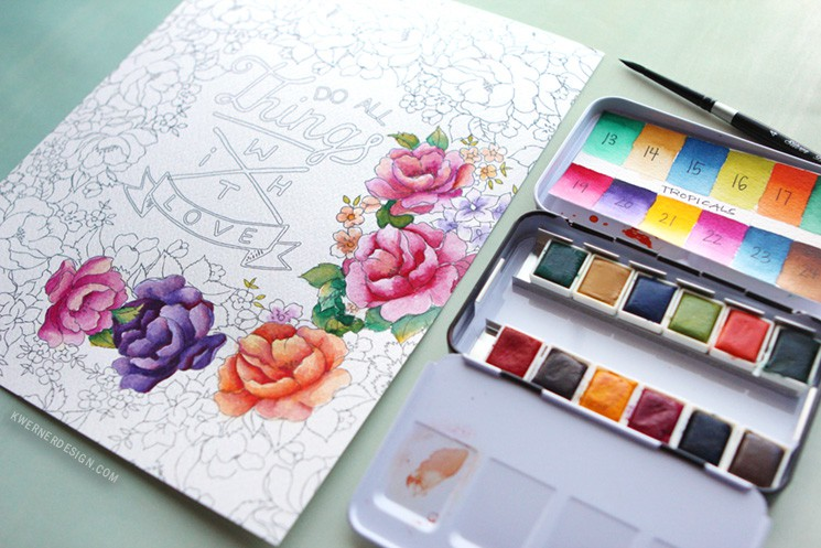 Prima Watercolor Coloring Book Review