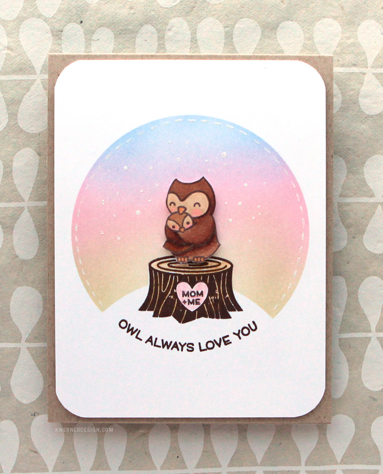 Soft Blending with Circle Mask (Card for Mom)