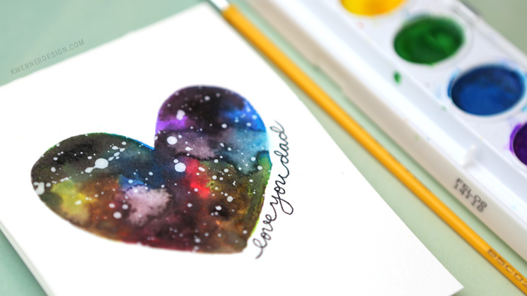 Easy DIY Galaxy Father's Day Card Made with Minimal Supplies