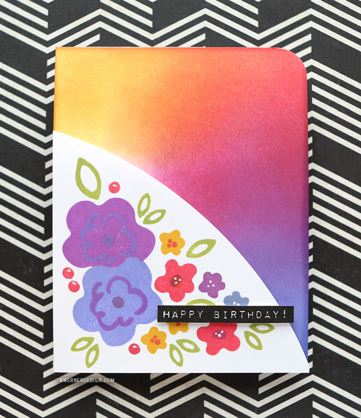 Ink Blended Card using Simon Says Stamp Inks