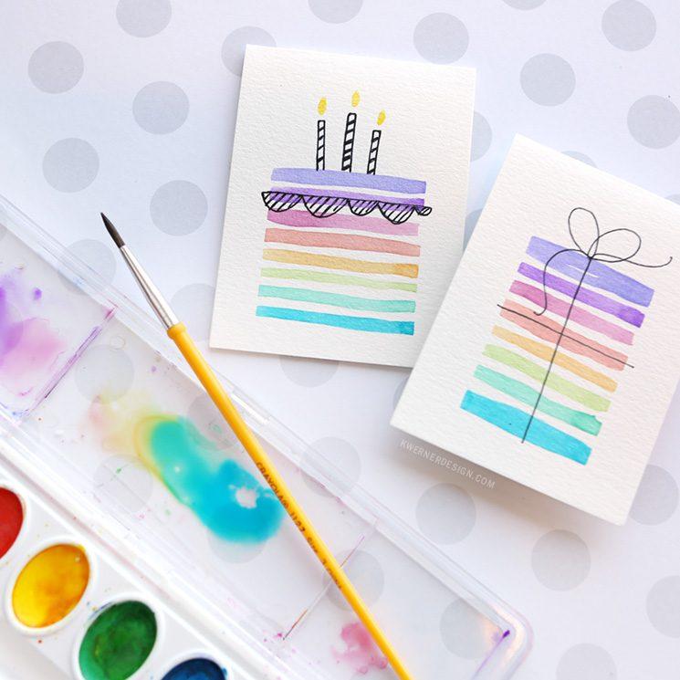 Easy DIY Birthday Card Using Minimal Supplies