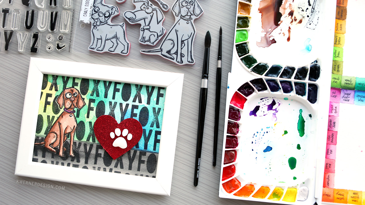 Tim Holtz Crazy Dogs & WPlus9 Whimsy Alpha | Simon Says Stamp Masterpiece Box