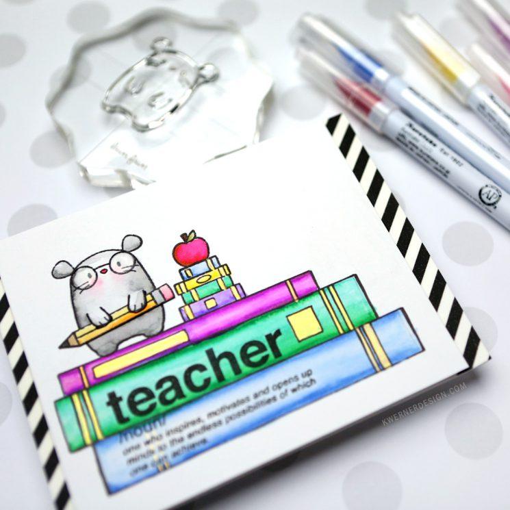Custom Scene for Teacher Card (Zig Clean Color Markers)