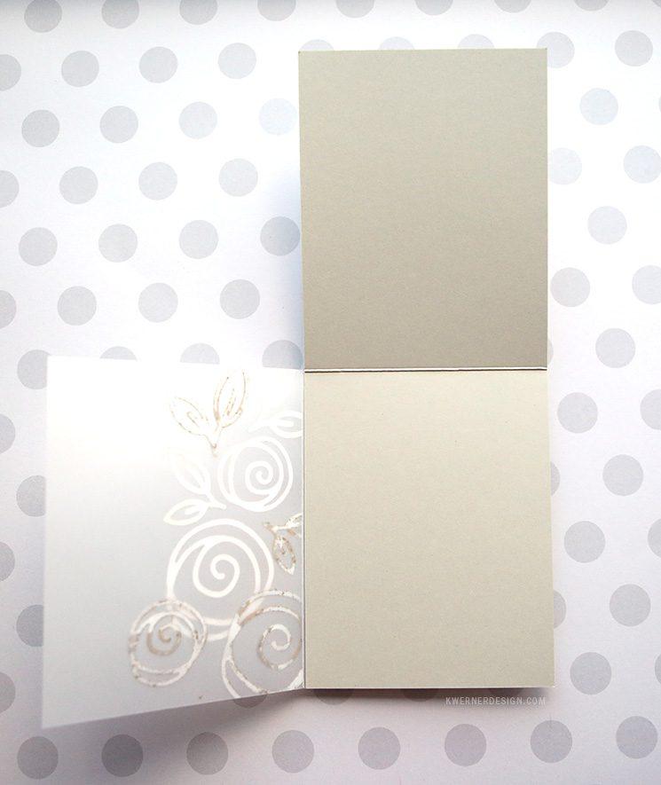 Tri-panel Vellum Card with Floral Diecuts