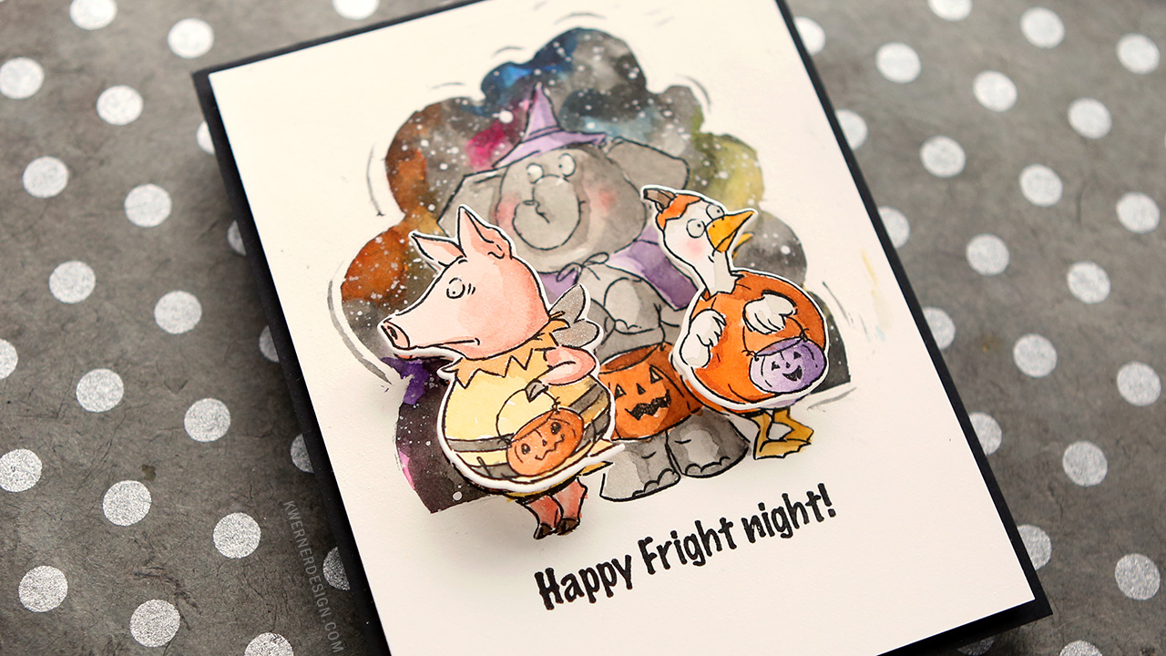 Watercolor Halloween Card with Movement!