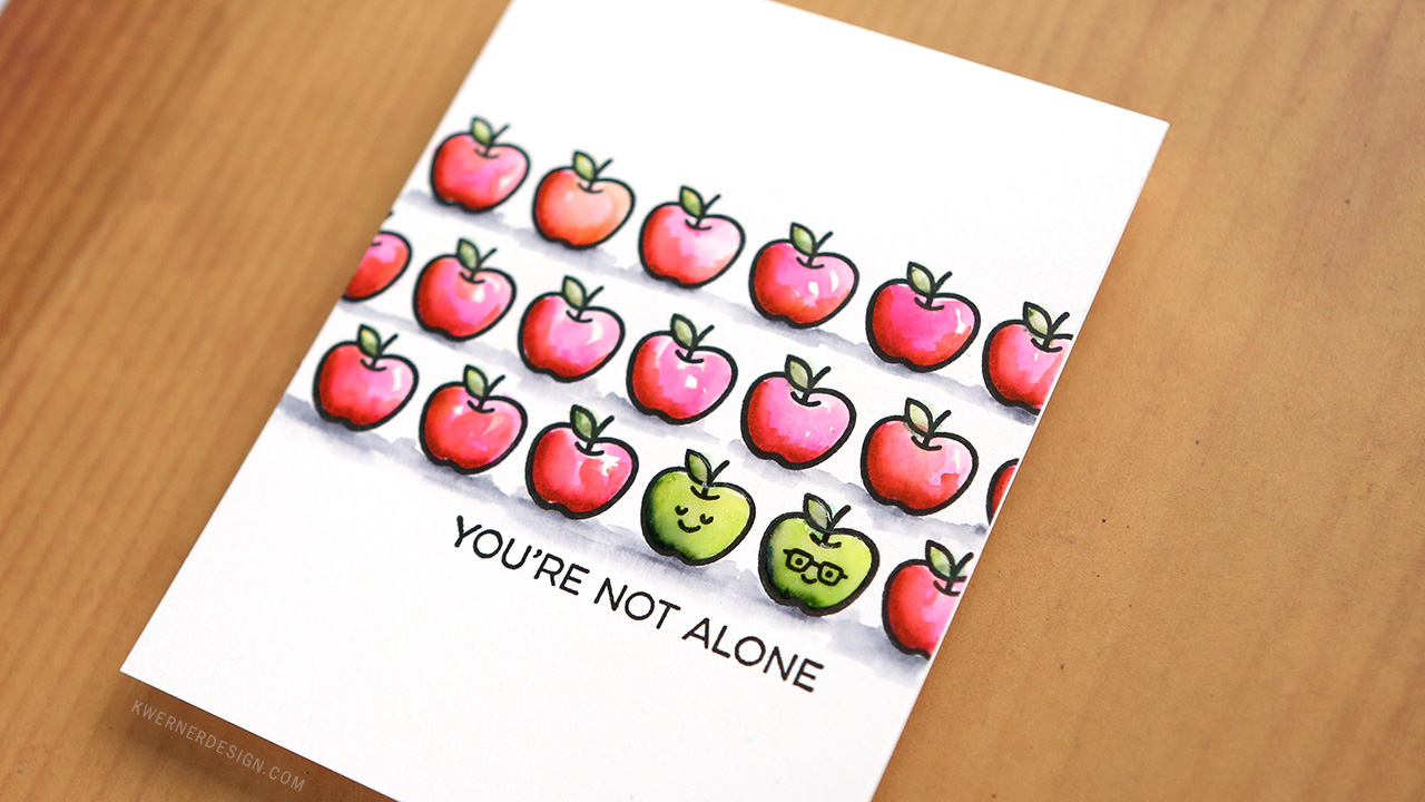 You're Not Alone – Small Stamp Repeat Stamping