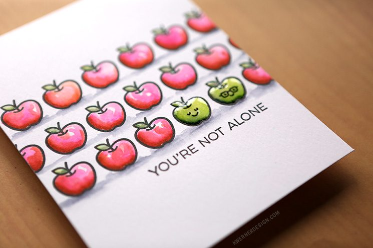 You're Not Alone - Small Stamp Repeat Stamping