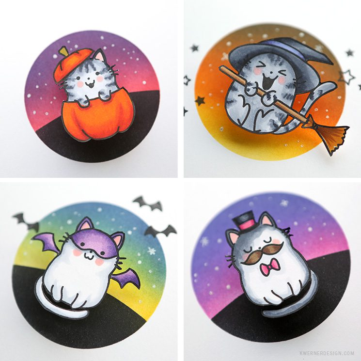 Scaredy Cats! Masked Ink Blending & Copic Markers