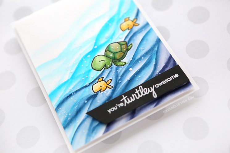 You're Turtley Awesome! - Zig Clean Color Markers & Paper Smooches