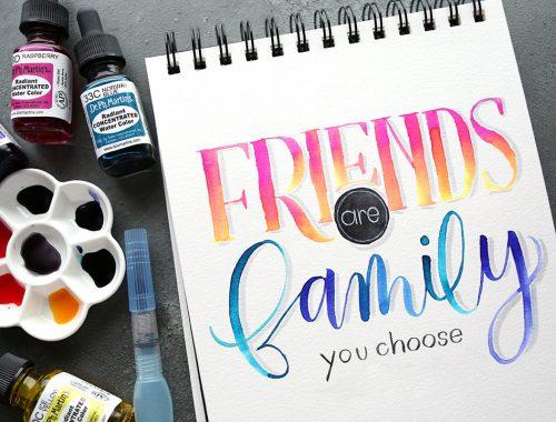 brush lettering custom quote liquid watercolor
