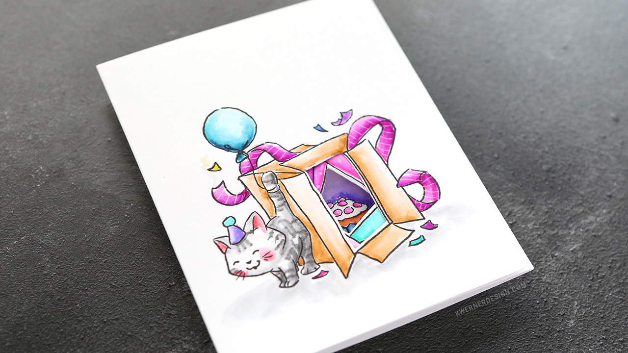 Fun Trifold Birthday Card with Zig Clean Color Markers