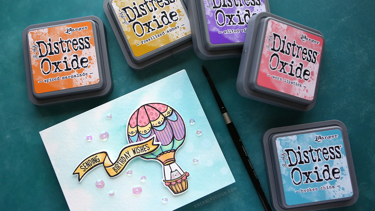 Can you watercolor with Distress Oxide Inks?