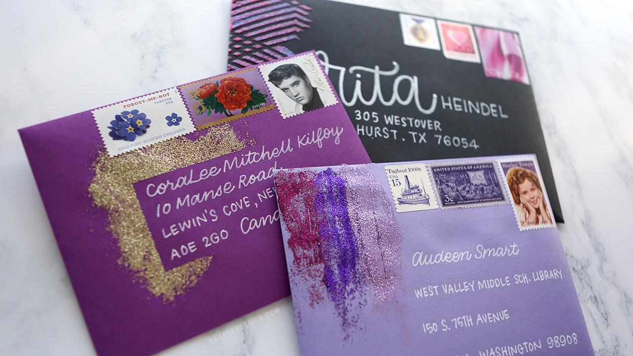 3 Ways to Add Glitter Paste to Envelopes