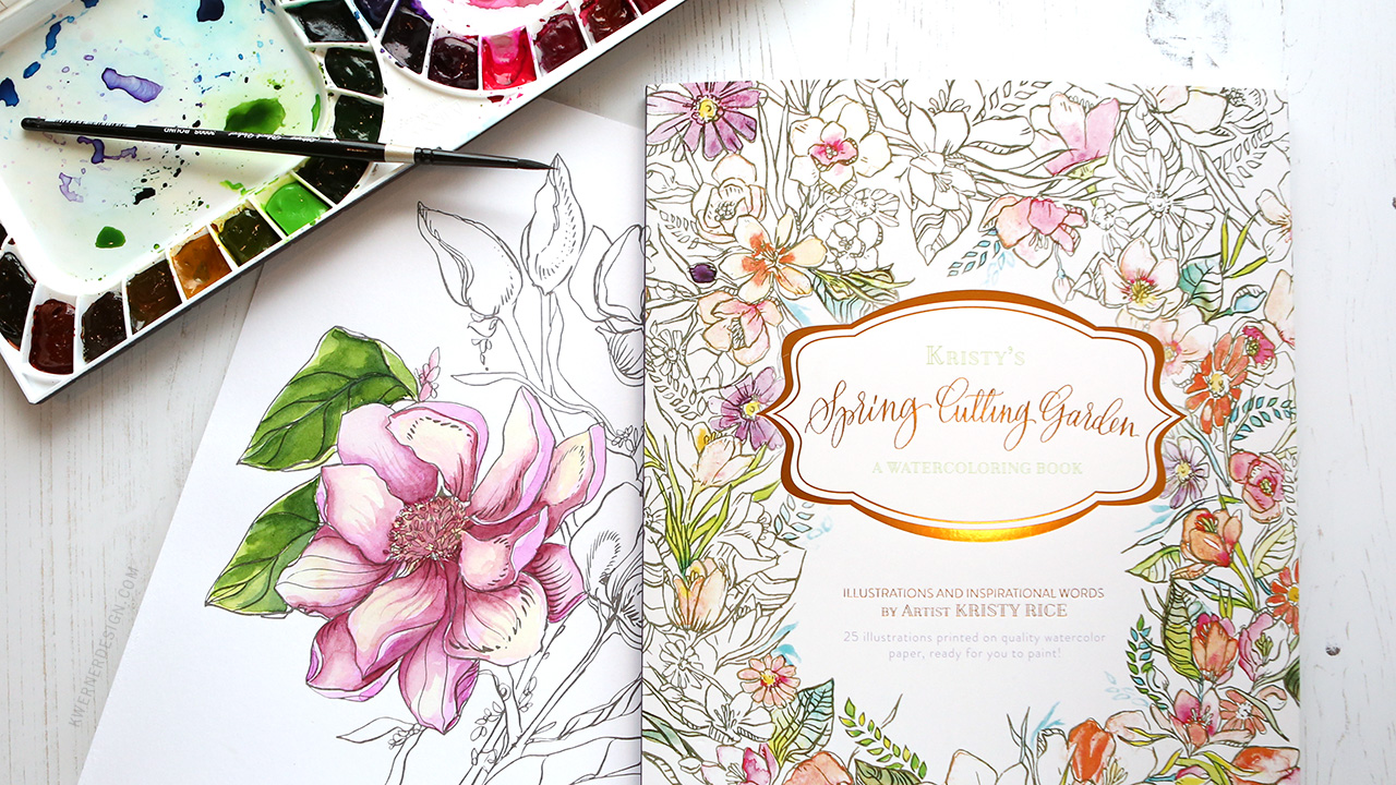 NEW Painterly Days Watercolor Coloring Book GIVEAWAY!