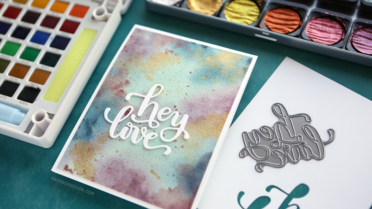 Using Watercolors & FineTec at the same time – Ethereal Watercolor