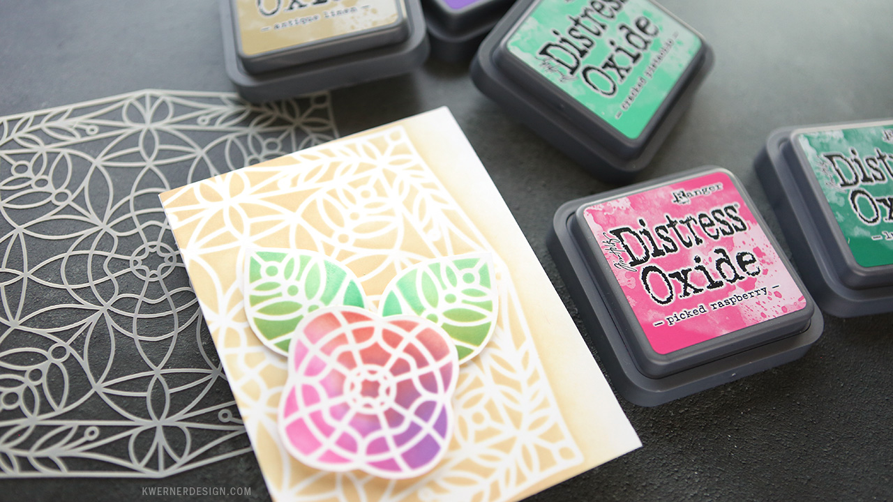 Paper Piecing with a Stencil Design + Distress Oxide Ink Blending