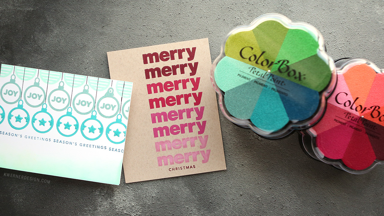 Clean & Simple Holiday Cards with Pigment Inks, Repeat Stamping
