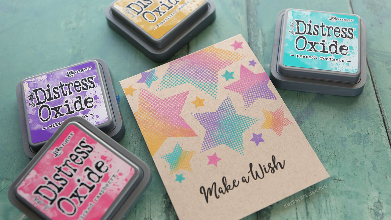 Simple Multicolor Stamping with Distress Oxide Inks + GIVEAWAY!